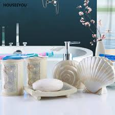 aliexpress com buy new diy sea shell style bathroom accessories