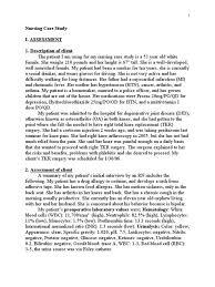 Resume Nursing Examples by Case Study Sample For Nursing