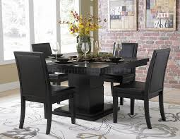 black dining room table set black finish modern dining table w optional side chairs dining