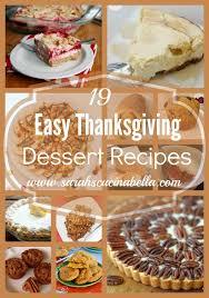 19 easy thanksgiving dessert recipes s cucina