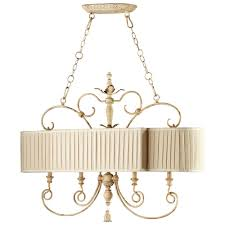 Antique Island Lighting Maison French Country Antique White 4 Light Island Chandelier
