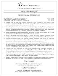 inspire objective and work experience hotel sales manager resume