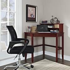 Small Wood Corner Desk Small Cherry Finished Oak Wood Corner Desk With Storage Drawer Of