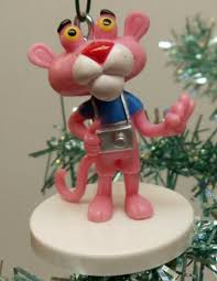 pink panther 6 tree ornament set featuring