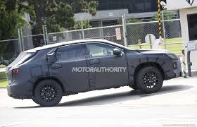 lexus luxury van lexus rx with third row seats spy shots