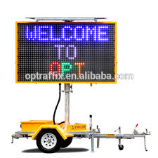 lighted message board signs opt vms 400 3 outdoor led digital sign board portable vms variable