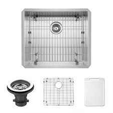 Stainless Steel Undermount Kitchen Sink by Vigo Undermount 23 In Single Basin Kitchen Sink With Grid And
