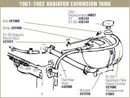 1972 corvette radiator 32990 56 74 radiator expansion tank overflow hose