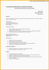 Sample Resume Maintenance Technician by 6 Maintenance Technician Resume Mac Resume Template