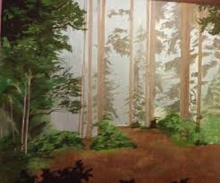 Forest Mural by Diy Forest Mural 6 Steps With Pictures