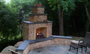 outdoor fireplace chimney binhminh decoration