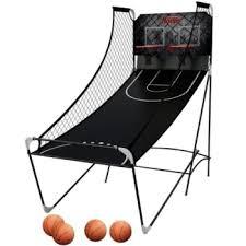 so classic sport x0604 indoor arcade hoops cabinet basketball game m01481w harvard indoor game double shot arcade basketball hoop