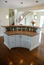 round island kitchen rounded kitchen island from the back troy s good ideas