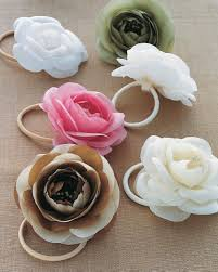 flower bands silk flower hair bands martha stewart