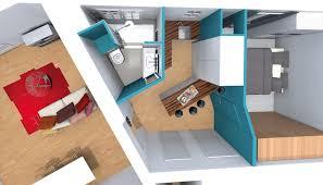 micro cuisine aménagement gain de place suppression couloir pour cuisine petit