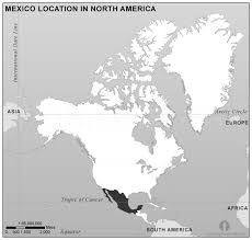 mexico america map mexico location map in america black and white mexico