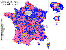 Alsace France Map by Cantons Of France World Elections