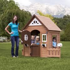 backyard discovery aspen wooden cedar playhouse walmart com