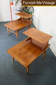 Lane End Tables Pair Of Mid Century Modern Lane Copenhagen Step End Tables