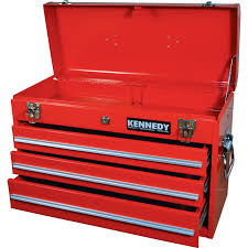 Kennedy Tool Box Side Cabinet Drawer Amusing 3 Drawer Tool Box Design 3 Drawer Portable Tool