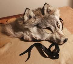 Wolf Mask Realistic Fur Wolf Mask Mask Making Masquerade Pinterest