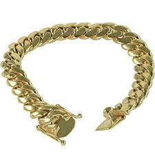 cuban link bracelet gold images Solid 14k yellow gold 8 5 inch miami cuban link jpg