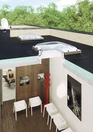 type c flat roof window is equipped with a double glazed unit with