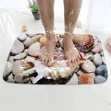Seashell Bath Rug Honlaker 3d Seashell Bath Mat Flannel Absorbent Non Slip Doormat