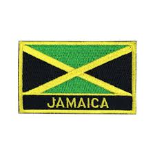Flag Badges Embroidered Jamaica Flag Patch Embroidered Patch Gold Border Iron On Patch Sew