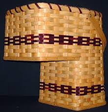 amish handmade small stair step basket country cabin decoration