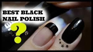 best black nail drugstore polish youtube