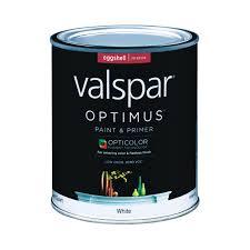 valspar optimus paint u0026 primer interior eggshell quart