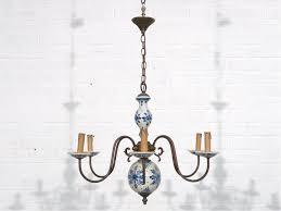 Blue Delft Chandelier Delft Blue Porcelain Chandelier 1950 Lighting Indoors And