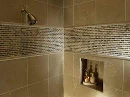 shower wall tile design bathroom shampoo soap shelf dish shower