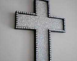 wall crosses silver glitter wall galleries in decorative wall crosses