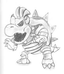 baby bowser coloring pages