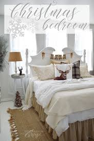 How To Decorate A Guest Bedroom On A Budget - christmas guest bedroom at the little cottage fox hollow cottage