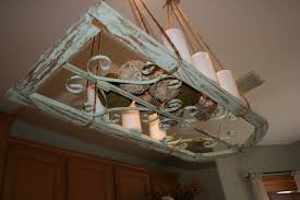 Island Pot Rack Light Fixture Repurposed Window Made Into A Light Fixture Or Pot Rack To