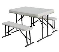 picnic tables folding with seats stansport heavy duty picnic table and bench set sportsman s warehouse