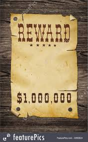 western reward sign image