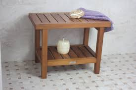 great ideas and designs of teak bathroom bench with bathroom bench