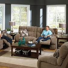Catnapper Recliner Sofa Siesta Lay Flat Reclining Sofa In Porcini With Power Option