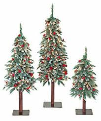 contemporary ideas alpine trees frosted prelit tree