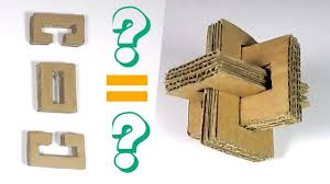how to make a cross puzzle from cardboard cardboard puzzle youtube