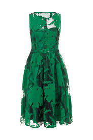 maggie floral organza plus size green dress