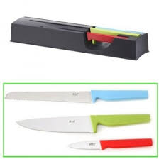 ikea kitchen knives ikea klangfull knife block with 3 knives by ikea shop for
