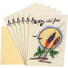 happy new year paper cards handmade paper new year cards package of 6 fair trade