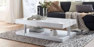 Wohnzimmertische Bei Roller Couchtisch Weiß Hochglanz Mit Schublade Case 120x60x38cm