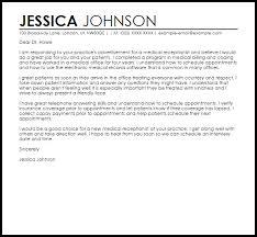 sample cover letter for a medical receptionist livecareer