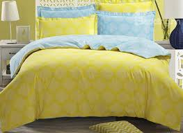 King Size Cotton Duvet Cover White Medallion With Yellow Ground 4 Piece Cotton Duvet Cover Sets